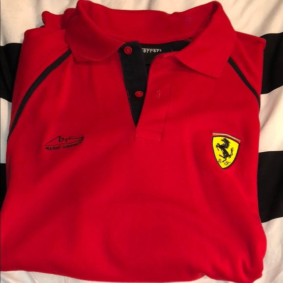 product puma in black shirts collar ferrari polo for normal clothing lyst men